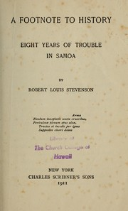 Cover of: A  footnote to history | Robert Louis Stevenson