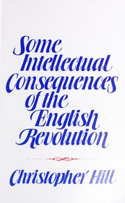 Cover of: Some intellectual consequences of the English Revolution