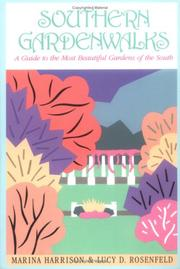 Cover of: Southern gardenwalks | Marina Harrison