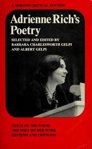 Cover of: Adrienne Rich's poetry