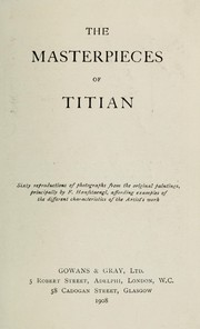 Cover of: The masterpieces of Titian