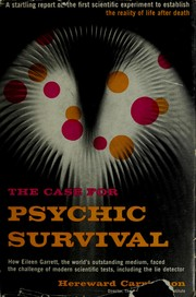 Cover of: The case for psychic survival