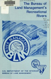 Cover of: The Bureau of Land Management's recreational rivers