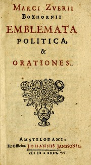 Cover of: Emblemata politica & Orationes