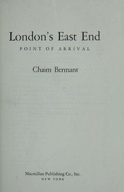 Cover of: London's East End