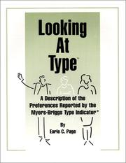 Cover of: Looking at Type | Earle C. Page