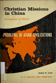 Cover of: Christian missions in China | Jessie Gregory Lutz