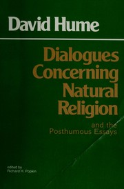 Dialogues concerning natural religion and the posthumous essays, Of the immortality of the soul and Of suicide