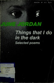 Cover of: Things that I do in the dark