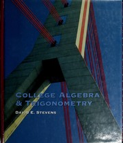 Cover of: College Algebra & Trigonometry