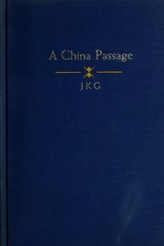 Cover of: A China passage