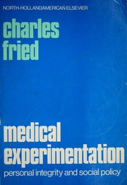 Cover of: Medical experimentation