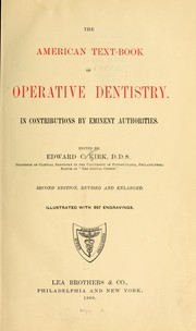 Cover of: The American text-book of operative dentistry | Kirk, Edward Cameron,