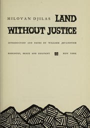 Cover of: Land without justice: an autobiography of his youth