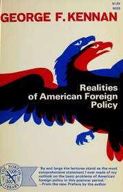 Cover of: Realities of American foreign policy