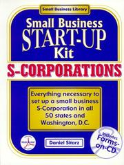 Cover of: S-corporations: small business start-up kit