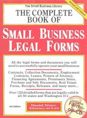 Cover of: The complete book of small business legal forms