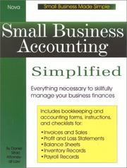 Cover of: Small business accounting simplified