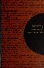 Cover of: Bibliography of bibliographies in American literature