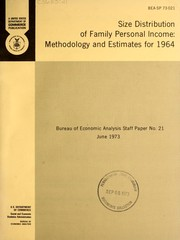 Cover of: Size distribution of family personal income | Edward C. Budd