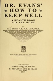 Dr. Evans' How to keep well