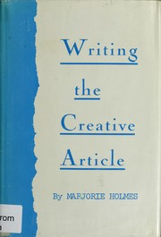 Cover of: Writing the creative article