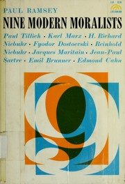 Cover of: Nine modern moralists. | Paul Ramsey