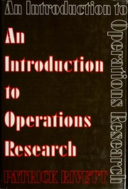 Cover of: An introduction to operations research. | Patrick Rivett