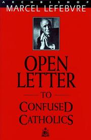 Cover of: Open Letter to Confused Catholics