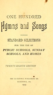 Cover of: One hundred hymns and songs | J. B. Esser