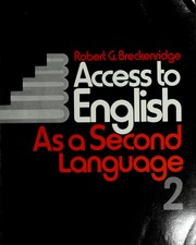 Access to English as a second language by Robert G. Breckenridge