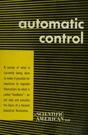 Cover of: Automatic control. |