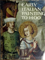 Cover of: Early Italian painting to 1400. | Robert Oertel