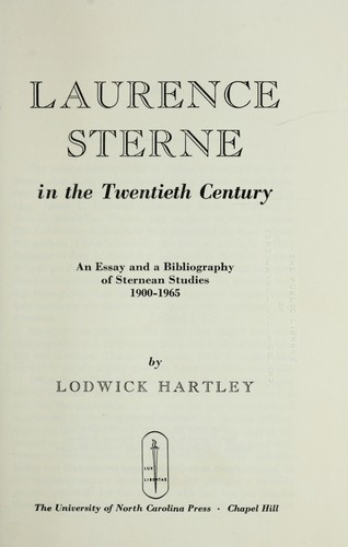 Laurence Sterne in the twentieth century