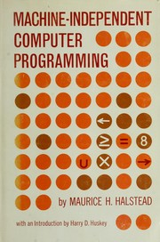 Cover of: Machine-independent computer programming