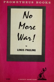 Cover of: No more war!