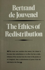 The ethics of redistribution by Bertrand de Jouvenel