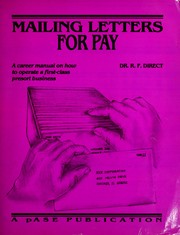Cover of: Mailing letters for pay