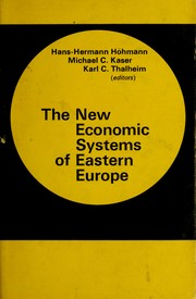 Cover of: The New economic systems of Eastern Europe