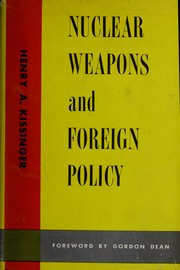 Cover of: Nuclear weapons and foreign policy
