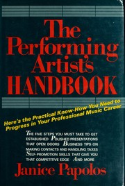 Cover of: The Performing Artist's Handbook