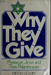 Cover of: Why they give | Milton Goldin