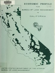 Cover of: Economic profile for Bureau of Land Management in California