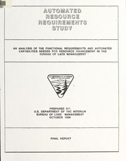 Cover of: Automated resource requirements study | United States. Bureau of Land Management