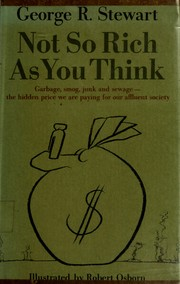 Cover of: Not so rich as you think | George Rippey Stewart