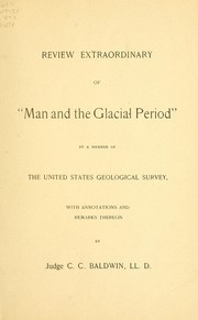 "Cover of: Review extraordinary of ""Man and the glacial period,"""
