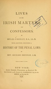 Cover of: Lives of the Irish martyrs and confessors ...