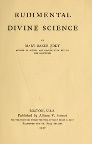Cover of: Rudimental divine science