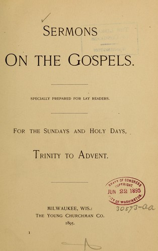 Sermons on the gospels by