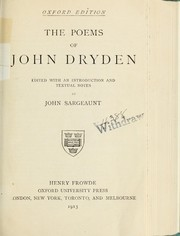Cover of: The poems of John Dryden by John Dryden